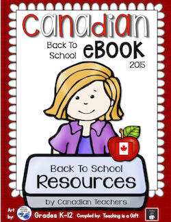 Photo of Back to School Canadian eBook @Teachingisagift.blogspot.ca