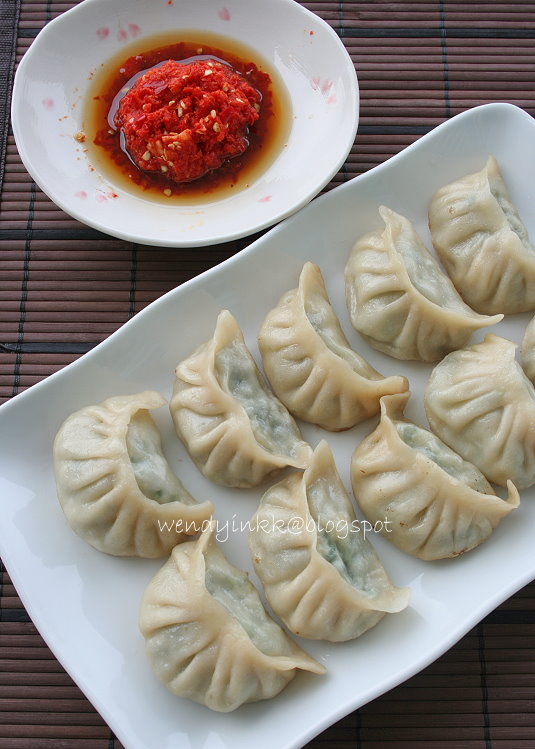 meat and chinese chive pot meat and chinese chive pot stickers guotie ...
