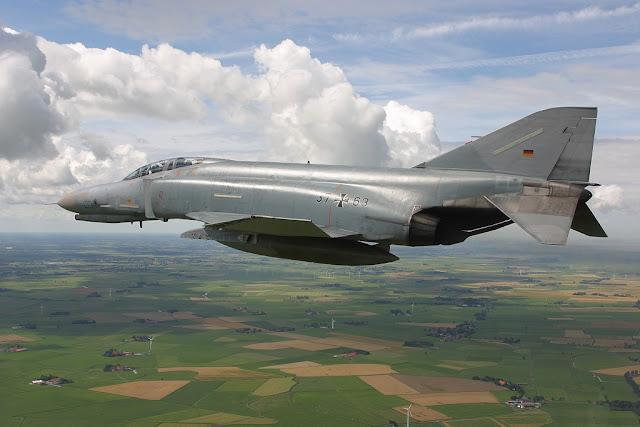 Alman f4 phantom uçağı