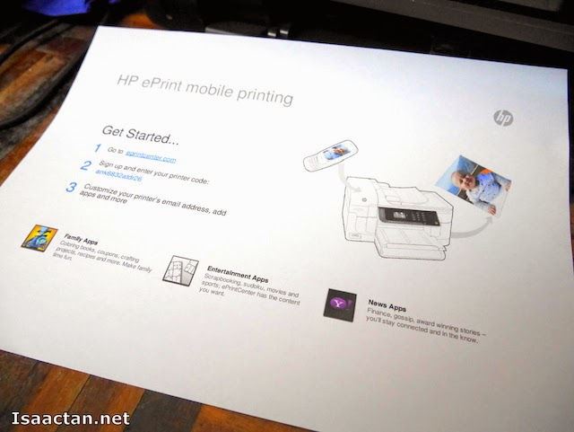 The step by step info page to get the printer code for adding my printer