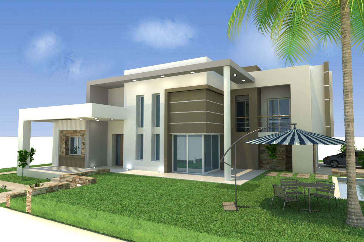 Front house elevation home design architecture for Home elevation front side