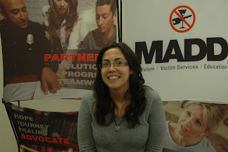 SHSU Student Tasha Arevalo was an intern with the Houston Chapter of MADD.