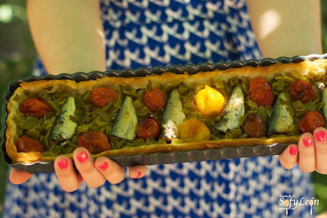 Receta de hojaldre de sardinas y tomates