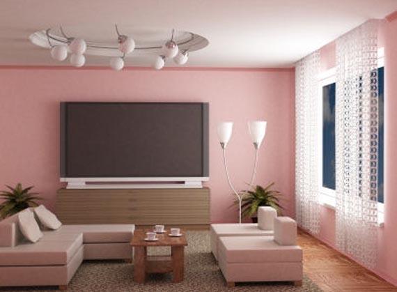 Consigli per la casa e l\' arredamento: Imbiancare soggiorno: colore rosa