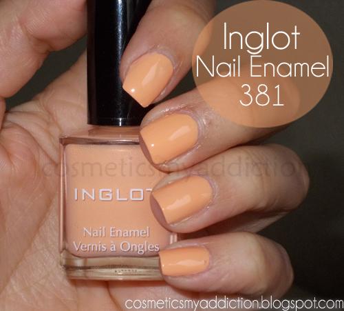 Inglot, kolekcja wiosenna #381 - pastelowa pomarańcza