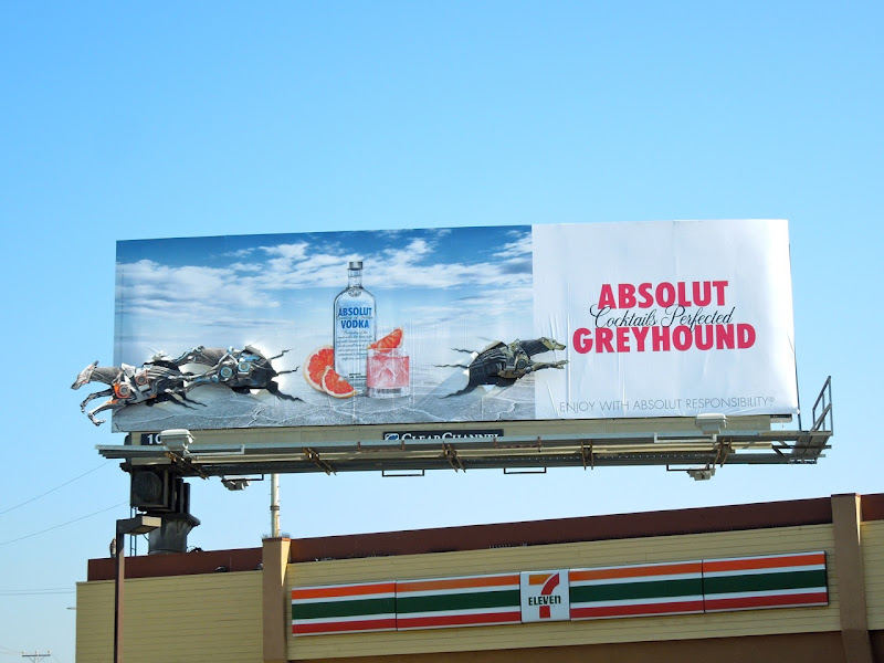 Absolut Greyhound Vodka special installation billboard