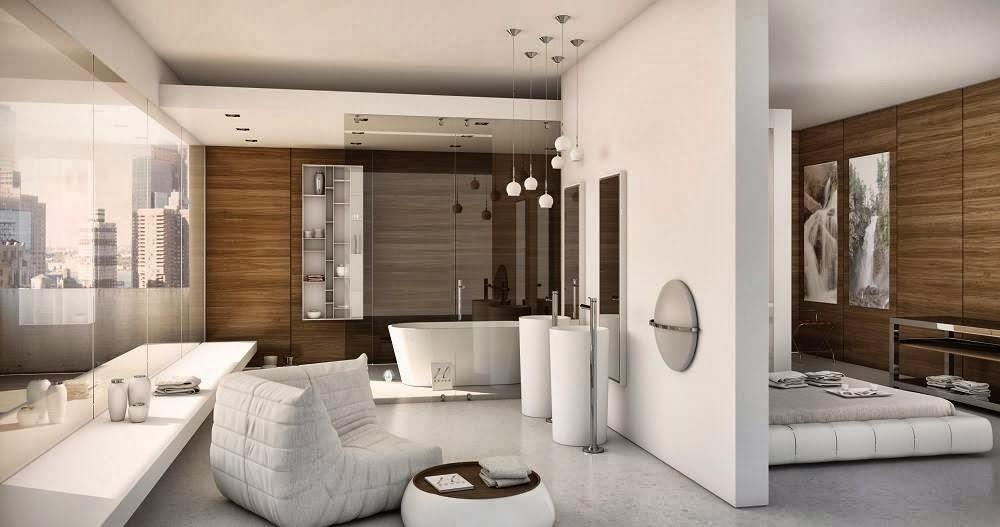 Baño Para Dormitorio:Ves más ventajas o más inconvenientes en esta idea? ¡Feliz martes