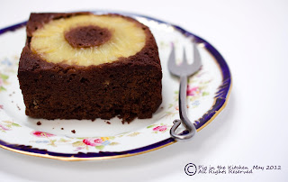 gluten free chocolate and pineapple upside down cake