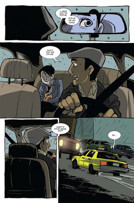 Interior art from Cyrus Perkins and the Haunted Taxi Cab #1, Courtesy of Action Lab Comics