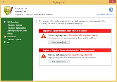 تنزيل برنامج ريجيتسري لايف Download Registry Life 1.70 RegistryLife1
