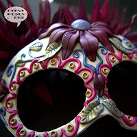 Handmade, one of a kind, Sugar Skull Mask