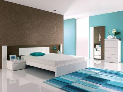 Pintar el dormitorio con colores relajantes cocinas - Banos turquesa y marron ...