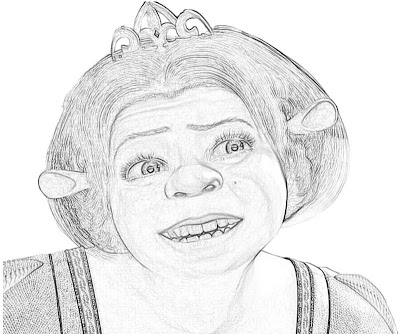 Princess Fiona Coloring Pages