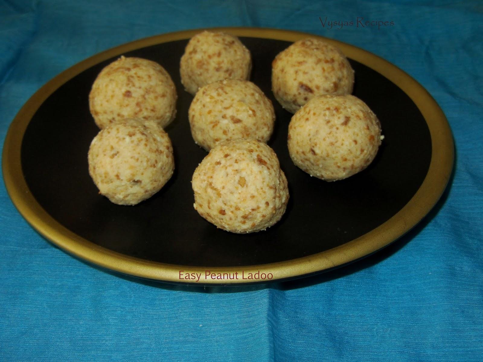 peanut ladoo - instant peanut laddu - easy kadlekai   unde