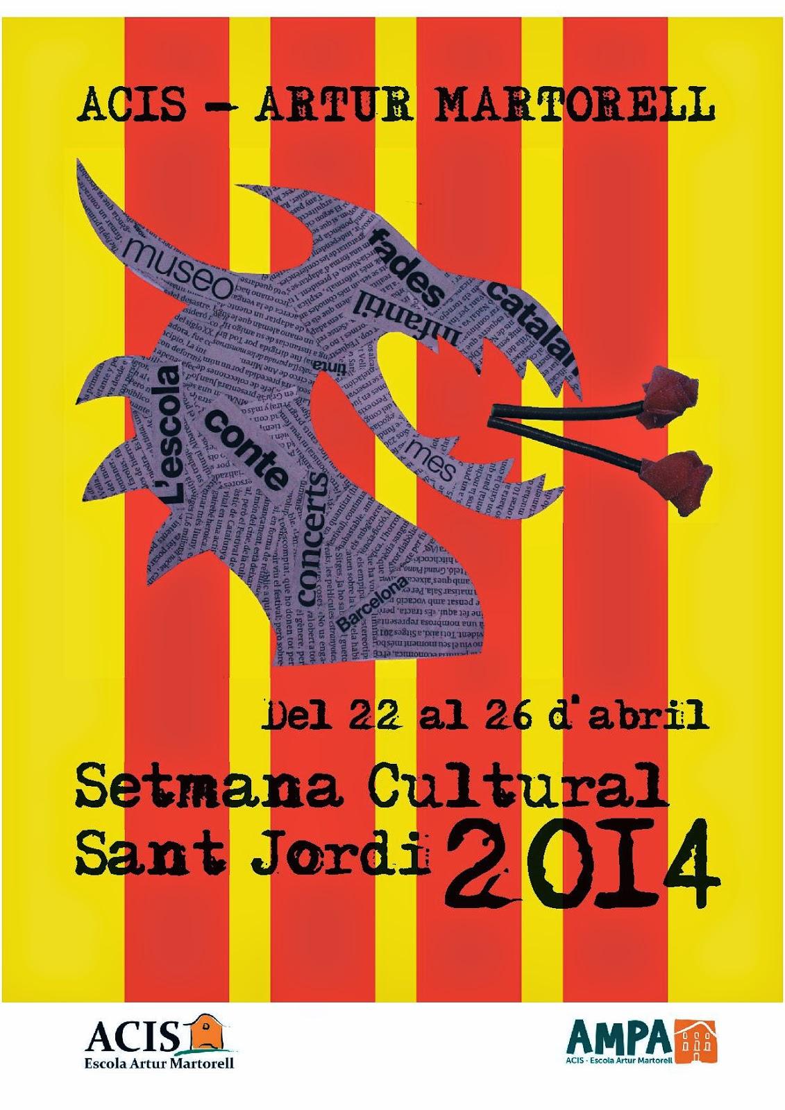 Programa setmana cultural Sant Jordi 2014