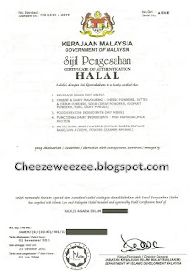 Sijil HALAL CW