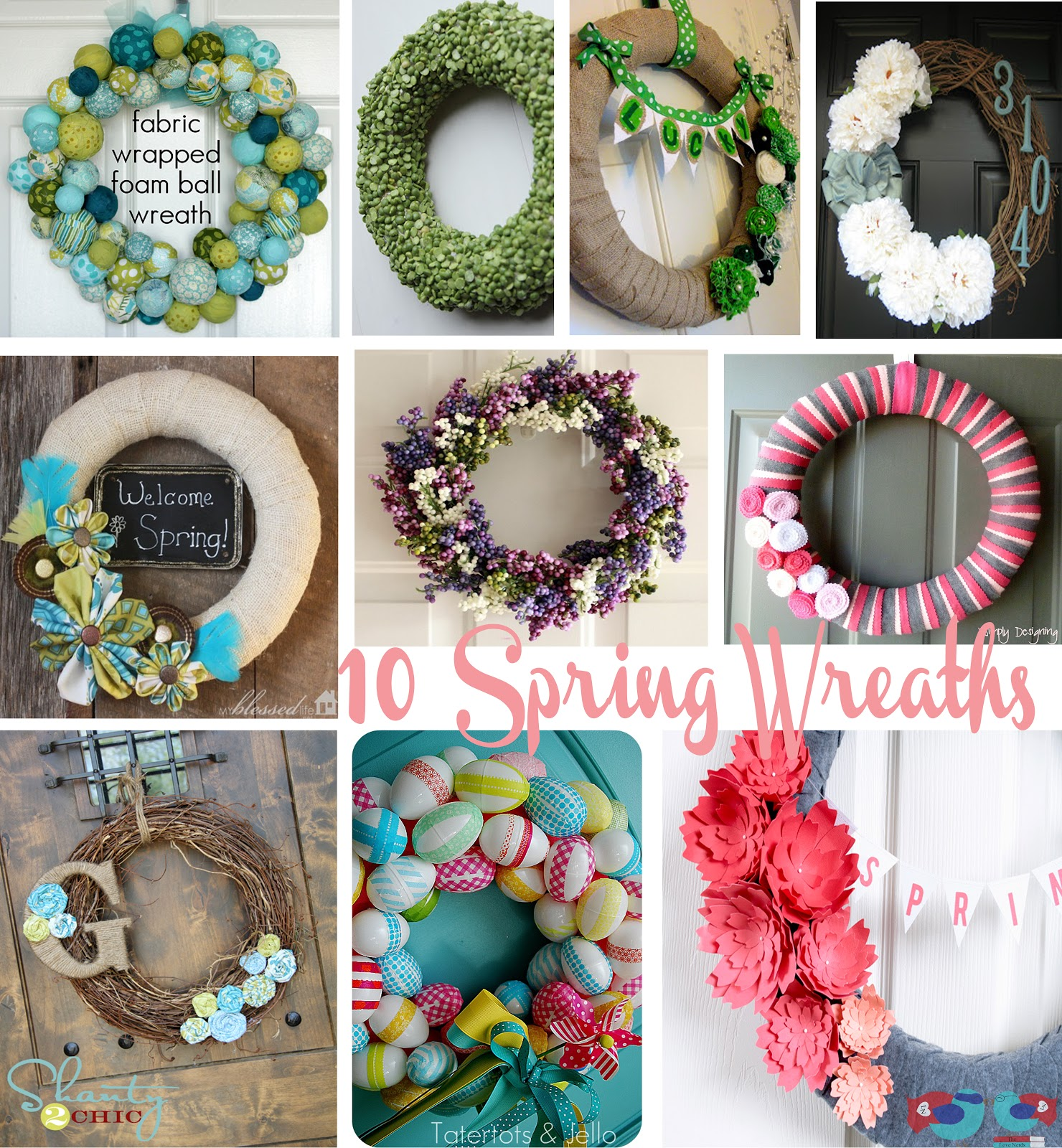 10 spring wreaths pinspiration the love nerds