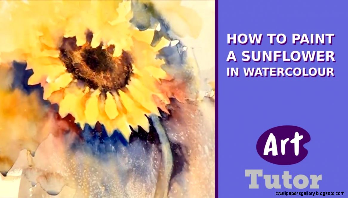 How to Paint a Sunflower in Watercolour   YouTube
