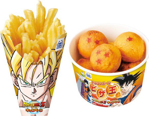 sayan hair with fries potato batata frita goku dragon balls rolls