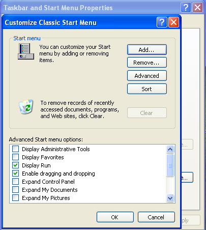 how to delete run history in xp