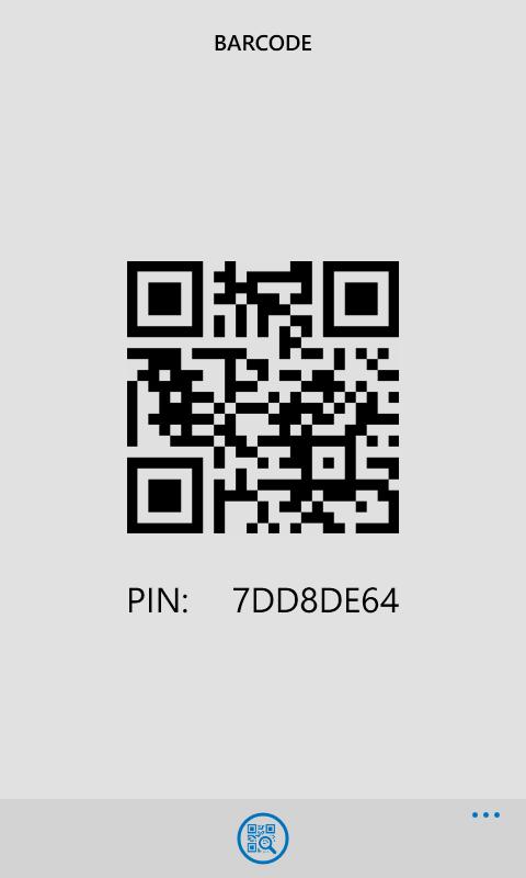 Halaman barcode dan PIN saya. Invite ya :D