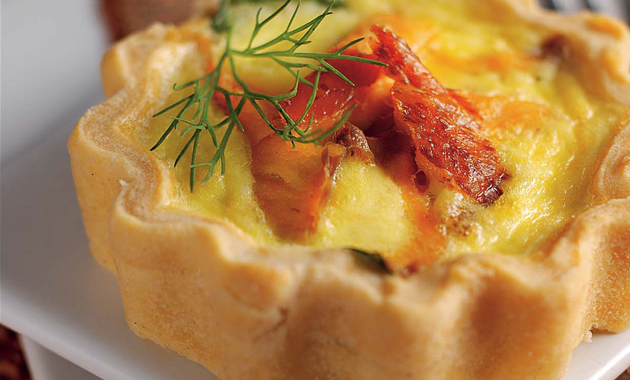 Tarts On Demand: Smoked Salmon and Watercress Tarts