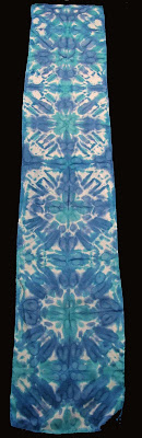 Deborah Younglao shibori silk scarf