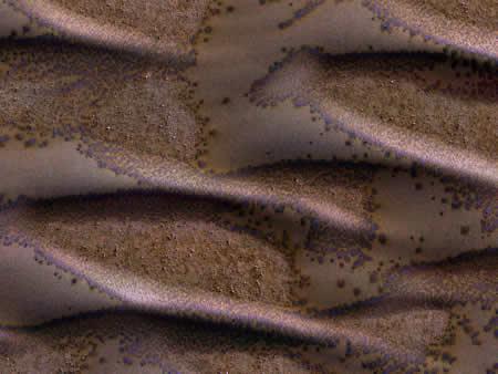 Dunas heladas en Marte