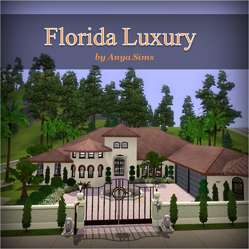Anya sims home design florida luxury for Luxury florida home plans