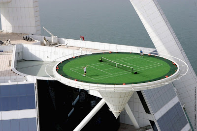 World's Highest Tennis Court at Burj Al Arab