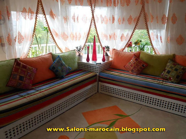 boutique salon marocain 2018 2019 rideau voilage. Black Bedroom Furniture Sets. Home Design Ideas