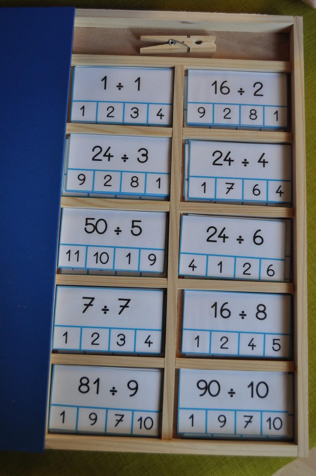 Ma petite fabrique montessori coffret table de division for Table de division de 99