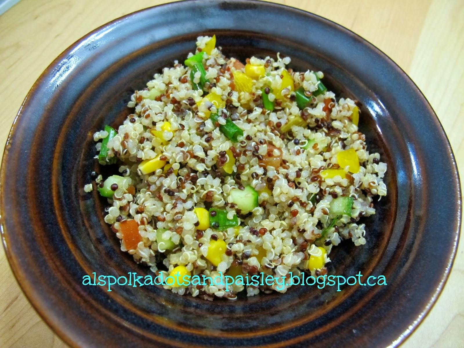 Polka Dots and Paisley: Quinoa With Veggies: Caffeine-Free, Gluten ...