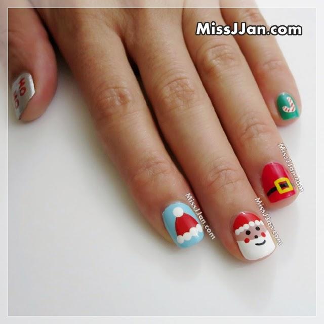 Missjjans Beauty Blog Santa Claus Nail Art 5 Cute Easy