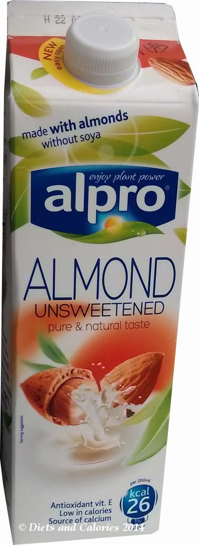 Alpro Almond unsweetened new carton