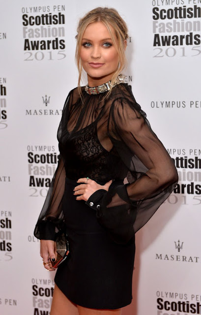 TV Presenter, Model @ Laura Whitmore attends the Scottish Fashion Awards in London