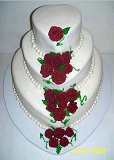Tortas de Boda Blanco y Rojo, parte 2