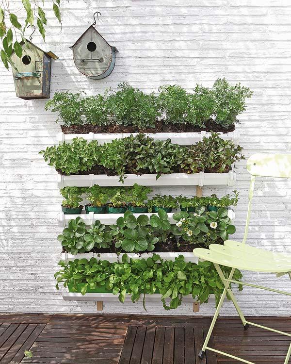 horta e jardim vertical:DIY Vertical Herb Garden