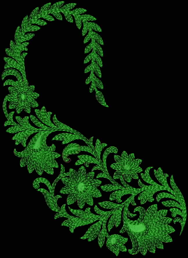 Fine Designed Difference Shaded String Botanical Of Paisley Patch That
