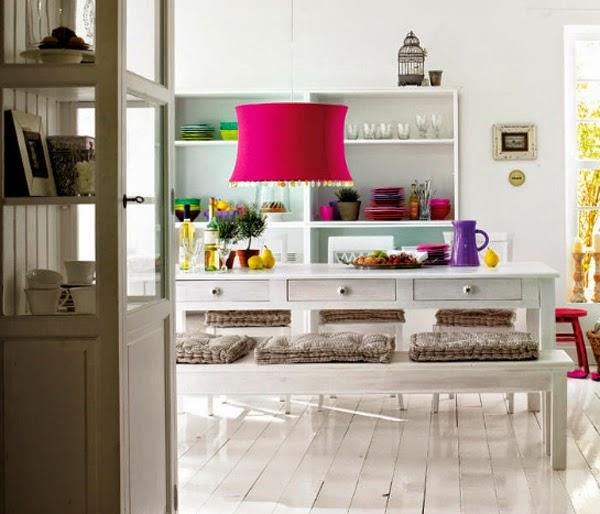 ديكورات غرف سفرة بالوان رائعة ومميزة وعصرية 2014