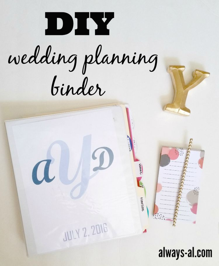 DIY Wedding Planning Binder