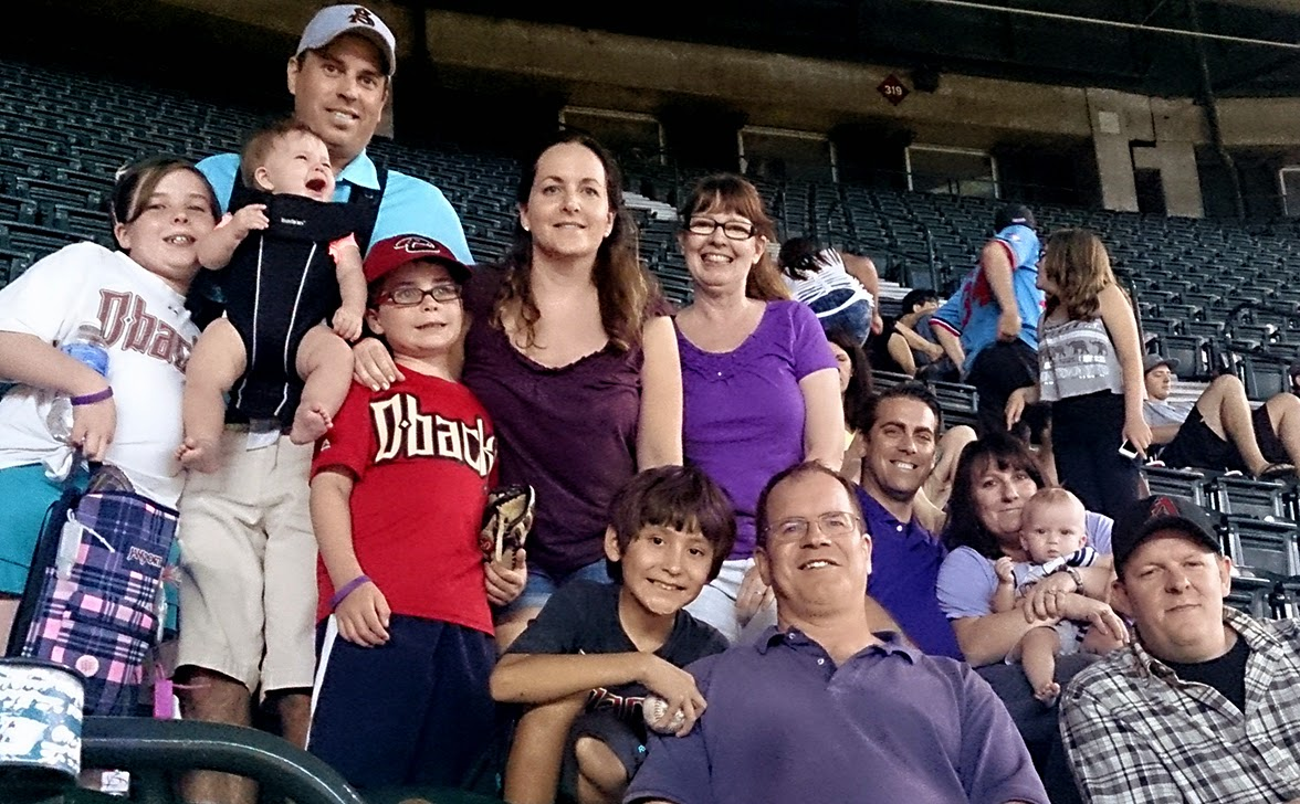 Rio Salado PTK team members with family, friends and supporters of Sexual and Domestic Violence Awareness Night at Chase Field.