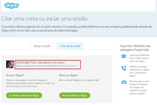 Criando uma conta no Skype