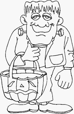 Halloween Frankenstein Coloring Pages Printables