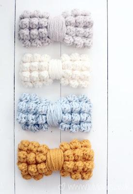 free crochet pattern chunky bobble bows