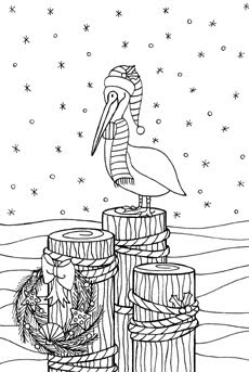 blackline christmas coloring pages - photo#42