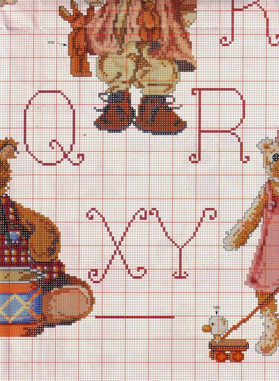 схема вышивок крестом мишек тедди
