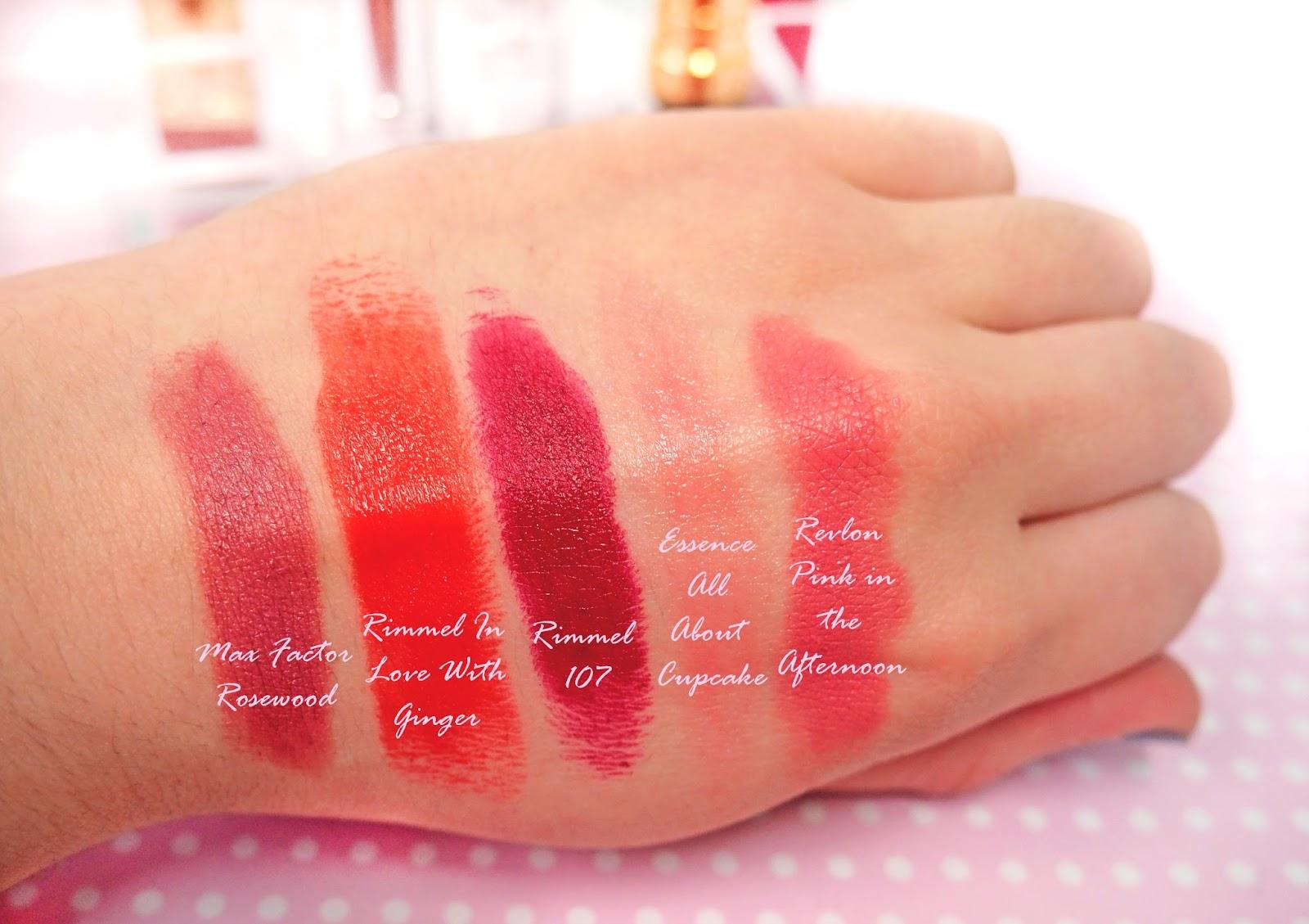 Autumn Drugstore Lipsticks Swatch