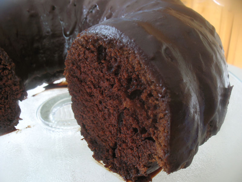 Rich Chocolate Bundt Cake with Bittersweet Chocolate Glaze | Lisa's ...