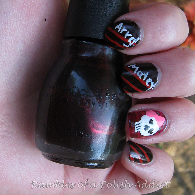 Arrrg Matey! Pirate nail art. | Rambles of a Polish Addict